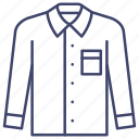apparel, clothes, formal, shirt icon