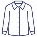 blouse, clothes, long, sleeve icon