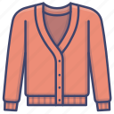 cardigan, cashmere, knit, knitted icon