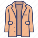 clothes, coat, jacket, wear icon