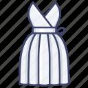 dress, evening, gown, women