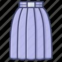 fashion, long, skirt, women icon