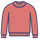 cashmere, knit, pullover, sweater icon