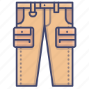 cargo, pants, tactical, trousers icon
