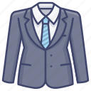 business, formal, jacket, suit icon