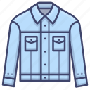 clothes, denim, fashion, jacket icon