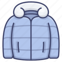 clothes, coat, jacket, winter icon