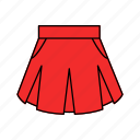 dress, fashion, skirt icon