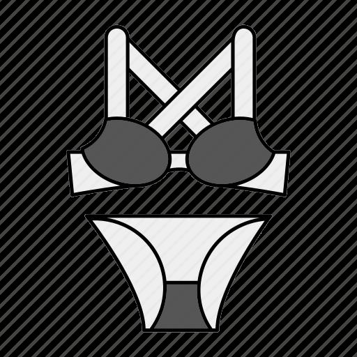 bikini, lingerie, undergarments, underwear icon