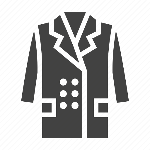 apparel, clothes, clothing, coat icon