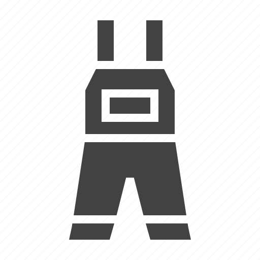 apparel, clothes, clothing, overalls icon