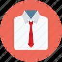 collar shirt, color shirt, dress shirt, shirt, shirt with necktie, shirt with tie icon