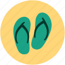 flip flops, flip shoes, jandals, slipper, slipper pair, toilet slipper icon