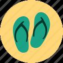 flip flops, flip shoes, jandals, slipper, slipper pair, toilet slipper icon