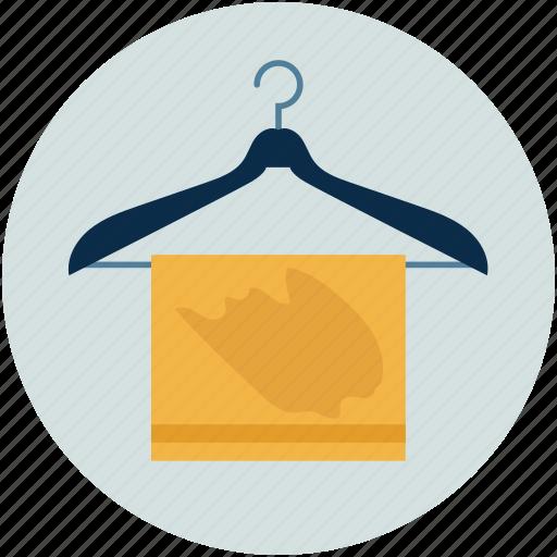 cloth hanger, coat hanger, hanger, toilet hanger, towel hanger, towel on hanger icon