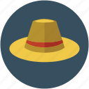 cowboy, cowboy hat, field hat, harvest hat, headwear, sun hat, sun helmet icon