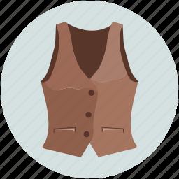 casual vests, lounge suit, men denim waistcoat, vest, vest with tie icon