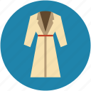 bath dress, bathrobe, dress, female dress, housecoat, night dress, robe icon