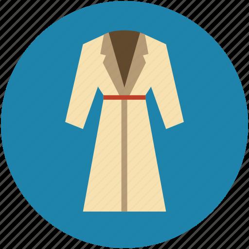 bath dress, bathrobe, dress, female dress, housecoat, night dress, robe icon