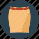 elegant skirt, fancy skirt, lady skirt, leg skirt, pencil skirt, skirt, skirt with belt icon