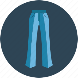lady trouser, night trouser, pant, trouser icon