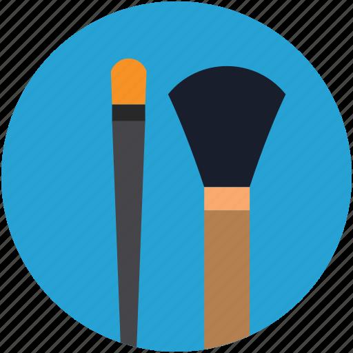 blush brush, bronzer brush, eyeliner brush, fan brush, foundation brush, hard angle brush, makeup brushes icon