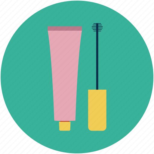 eye gloss, eyebrow brush, eyebrow comb, eyeliner, lip gloss, lip shiner icon