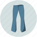 lady trouser, night trouser, trouser, pant icon