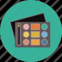 bronzer palettes, cheek palettes, eye palettes, lip palettes, makeup, palettes with pencils icon