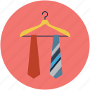 carvat hanger, clothes hanger, cravat, fashion, hanger, tie, tie on hanger icon