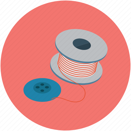 fashion, spool, thread roll, threading roll, yarn roll icon