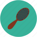 body care, bristles, brush, hair, hair brush, hair care brush, lady hair brush icon