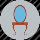 beauty salon mirror, beauty table, mirror, mirror table icon