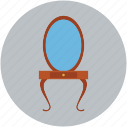 beauty salon mirror, beauty table, mirror, mirror table icon