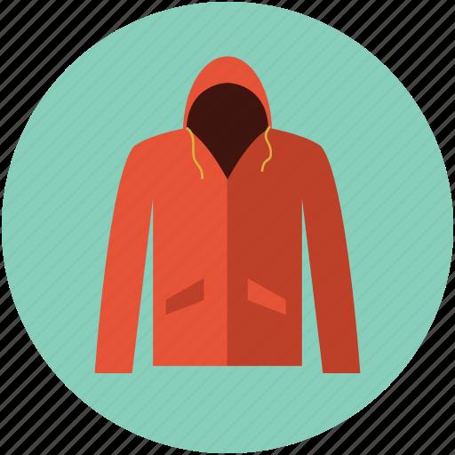 hood, hooded sweatshirt, hoodie, jacket hood, muff hood, raincoat, sweatshirt icon