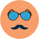 fashion face, fashion glasses, fashion moustache, glasses and moustache, moustache, party face icon