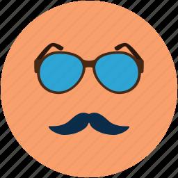 fashion face, fashion glasses, fashion moustache, glasses and moustache, moustache, party face icon