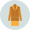 lady coat, lady overcoat, outerwear coats, overcoat, parka, topcoats, trench coat icon