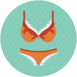 bra, bra and underwear, brassiere, knicker, panties, women cloth, women's undergarments icon