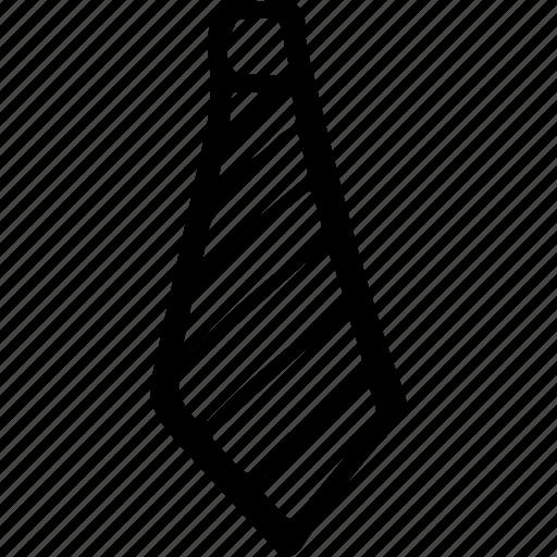 formal, necktie, striped tie, tie, uniform tie icon