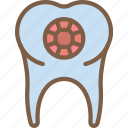accessorize, accessory, diamond, fashion, jewelry, tooth icon