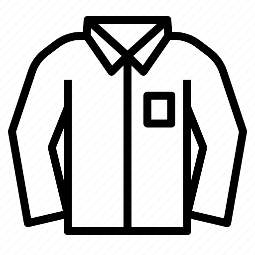 clothes, fashion, long, man, shirt, sleeve icon