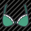 green, bra