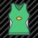 green, tank, top