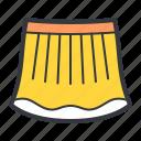 yellow, skirt