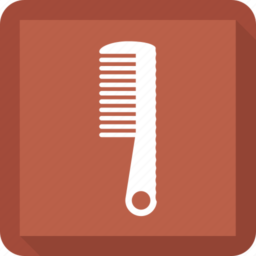 comb, hairstyle, salon icon