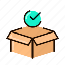 box, received, package, check, status, success