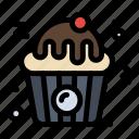 cupcake, fast, food icon