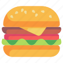 burger, food, fast food, lunch, cheese burger icon