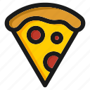 burger, fastfood, gastronomy, kitchen, meal, pizza, restaurant icon